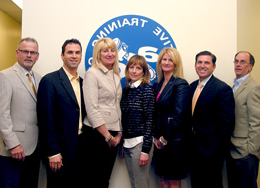 From Left to Right: Walt Huber- Fixed Operations Director, Faulkner Organization, Eric Stamps- Dealer Principal, Colonial Volkswagen/Subaru, Kimberly Ewing- Executive Director of 招生, Automotive Training Center, Mary Lynn Alvarino- Director of Operations, Automobile Dealers Association of Greater Philadelphia, Beth Beans Gilbert- Vice President, Fred Beans Family of Dealerships, Luke Bergey- Dealer Principal, Bergey's Ford and Don VanDemark- Vice President/COO, 汽车培训中心.